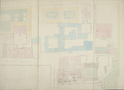 [Drawn plan of St James's Palace, Marlborough House, York House, Bridgewater House and the improvements intended in St James's Street and Thatched House Court, &c.].